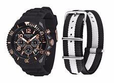 Madison New York Unisex Armbanduhr Candy Time Chronograph Silikon Schwarz U4362