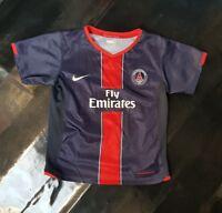 Maillot jersey maglia camiseta shirt PSG neymar mbappe pauleta vintage 6 y