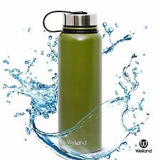 32 oz Vacuum Insulated Stainless Steel Bottle Mug Army Green Thermo Sports Water