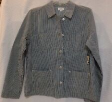 Crown & Ivy Womens Lightweight Shirt Jacket NWT  Size M Color Blue Stripes