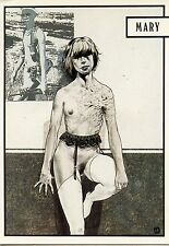 POSTCARD / CARTE POSTALE / ILLUSTRATEUR / BORDEL / LIBERATORE / 1983 MARY