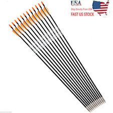 6pcs Archery Arrow Spine 700 Fiberglass Target Practice Hunting Arrows US Sell