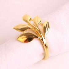 Napkin Ring Metal Plating Gold Leaf 6Pcs Towel Buckle Weeding Table Decoration