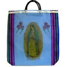 Mexico Virgin Guadalupe Mercado Reusable Grocery Market Tote Shopping Bag 6 Pack