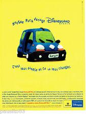 PUBLICITE ADVERTISING 026  1999  Renault le Kangoo Pack voyage Disneyland Paris