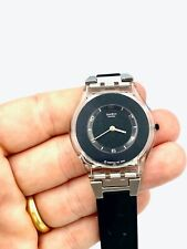 Swatch ULTRA THIN Skin Collection Black Watch with metal & rubber strap 1999