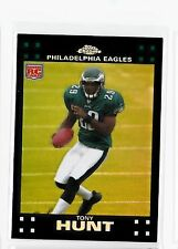 PHILADELPHIA EAGLES TONY HUNT 2007 TOPPS CHROME REFRACTOR #TC187 ROOKIE CARD RC