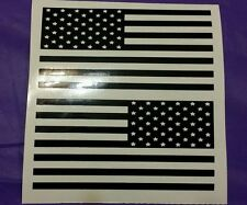 2x  AMERICAN FLAG STICKER  DECAL VINYL USA MIRRORED REVERSE
