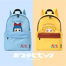 Anime POP TEAM EPIC Funny Backpack Cosplay Pipimi Popko Travel Shoulder Bag Gift