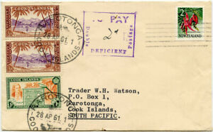 RAROTONGA POSTAGE DUE COOK ISLANDS 1961 from NEW ZEALAND 2d TO PAY