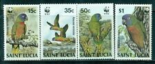 ST. LUCIA 902-05 SG969-72 MNH 1987 Bird Amazonian Parrots set of 4 Cat$21