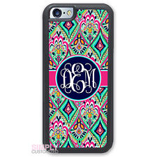Personalized Case for iPhone 6 6S Pretty Floral Jewels With Monogram