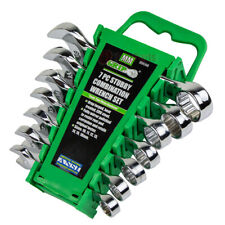 7 Piece Stubby Combination Wrench Set Metric Storage Rack Case 10mm 18mm 89098