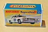 MATCHBOX SUPERFAST NO.55A MERCURY POLICE CAR CUSTOM REPLACEMENT DISPLAY BOX ONLY