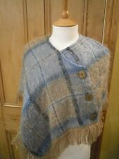 CHILD'S ANDREW STEWART PONCHO/CAPE WOVEN IN SCOTLAND, 40% MOHAIR/60% WOOL, SMALL