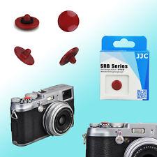Dark Red Convex Shutter Release Button JJC Brass FUJIFILM X10 Leica M9 Rollei F3