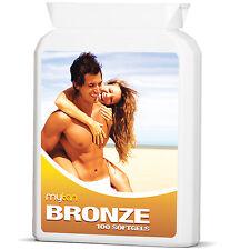 MyTan Bronze Sunless Tanning Tablets 100 SOFTGELS Safe Healthy Sun Tan Pills