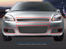 Fedar Fits 2006-2013 Chevy Impala Polished Dual Weave Mesh Grille Combo Insert