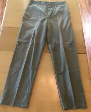 VINTAGE Mens Navy Olive Drab Field Utility Trousers 30x30-31