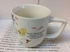 "Hallmark Marjolein Bastin White Coffee/Tea Cup New With Tag ""Friends Celebrate.�"
