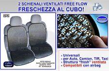 Schienale auto estivo coprisedile universale ventilato brevettato 2 copri sedili