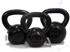 Troy VTX Series Black 5, 10 & 15lb Kettlebell Set Cast Iron Kettle Bell Pound