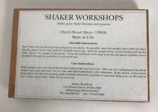 Shaker Workshops Cherry Bread Slicer - 12W56 Made In USA New Sealed