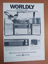1969 General Electric GE 10-Band World Monitor Radio Original Vintage Print Ad