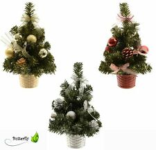 25cm künstlicher Tannenbaum MINI Weihnachtsbaum geschmückt Christbaum Kunstbaum