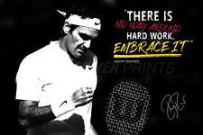 Roger Federer quote photo poster - Pre signed - There is no way around hard work