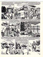 TESTAMENT DE BREWTON (GOSSELIN) PLANCHE ORIGINALE RED CANYON PAGE 30 SIGNEE