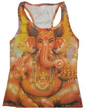 Lord Ganesh GANESHA Hindu Gott Goa Dj Tattoo Art Designer TANK TOP SHIRT S/M