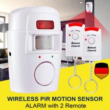 PIR Alarmanlage Bewegungsmelder Wohnwagen Wohnmobil mit 2x IR-Fernbedienung105db