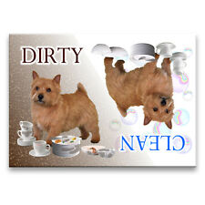 Norwich Terrier Clean Dirty Dishwasher Magnet No 1 Dog