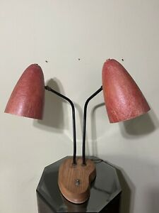 Robert Bulmore Mid Century Modern Red Fiberglass Eames Desk Lamp Light