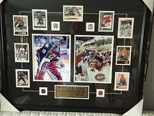 Framed Patrick Roy Canadian/ Avalanche Autographed photos,2 -8x10 0verall 26x30