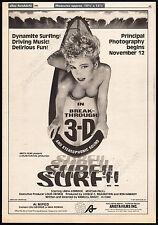SURF II__Original 1981 Trade AD promo_poster__LINDA KERRIDGE__EDDIE DEEZEN__1984