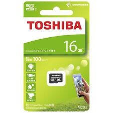 TOSHIBA 16GB MICROSD MIKRO SD 100MB/s EXCERIA KARTE SPEICHER 16GB KLASSE 10 New