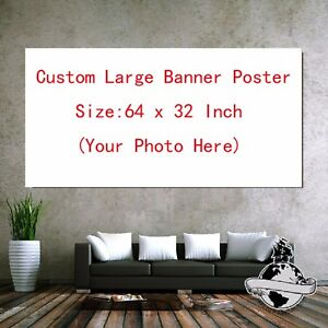Custom Large Banner Poster Size 64 x 32 Inch Printing with Your Photo Image