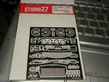 STUDIO 27 1/24 PEUGEOT 206 WRC 02' PHOTO ETCHING PARTS FP-2460 FOR TAMIYA KIT