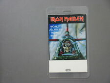 Iron Maiden backstage pass laminated World Slavery Tour 84/85 !