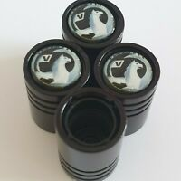 VAUXHALL Matte black valve Tyre Dust Caps Plastic Inside all models Non stick