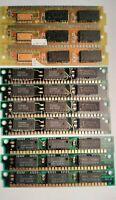 Vintage 30-pin 1MX9 SIMM Memory, incl. Toshiba, TI, Fujikama - paired lot of ten