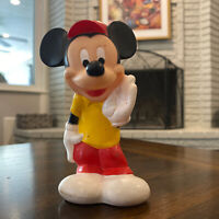 VTG MICKEY MOUSE Playskool Baby Disney soft rubber squeaker toy Hong Kong