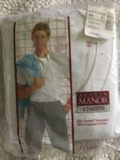 Nos Vtg Austin Manor Men'S T-Shirts 3-Pk Jcpenney White sz 44