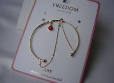 Topshop Freedom Bracelet Gold tone NEW Birth Month July Strong and Successful