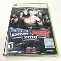 WWE SmackDown vs. Raw 2010 Featuring ECW (Microsoft Xbox 360, 2009) Brand New