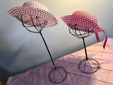 Pair ofvintage wire hat stand