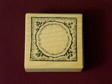 Toomuchfun EB41 Project Box Christmas bottom cup Kate Darnell wood Rubber Stamp