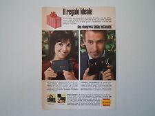 advertising Pubblicità 1966 CINEPRESA KODAK INSTAMATIC